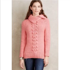 Anthropologie Twinkle Wenlan Cabled Vines Pullover